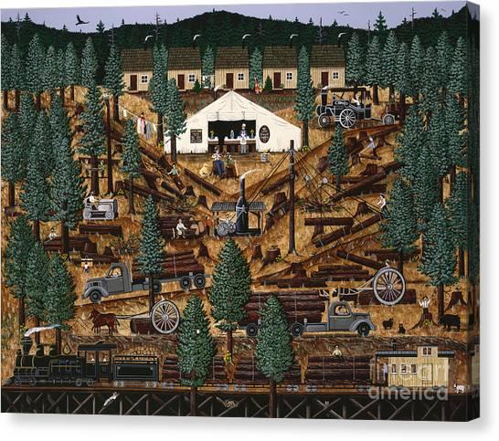 Pacific Northwest Logging Memories Canvas Print