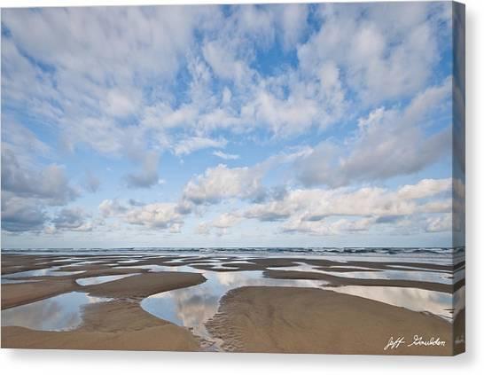 Pacific Ocean Beach At Low Tide Canvas Print