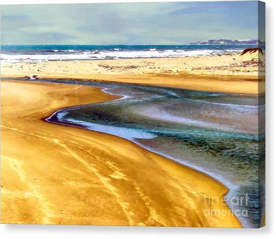 Pacific Ocean Beach Santa Barbara Canvas Print