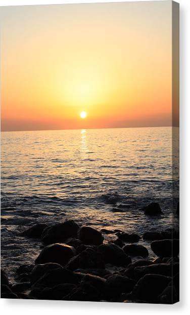 Pacific Sunrise Canvas Print by Ashley Balkan