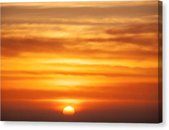 Sun Set Canvas Print - Pacific Sunset by Garry Gay