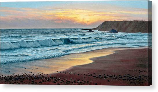 Oregon Canvas Print - Pacific Sunset by Paul Krapf