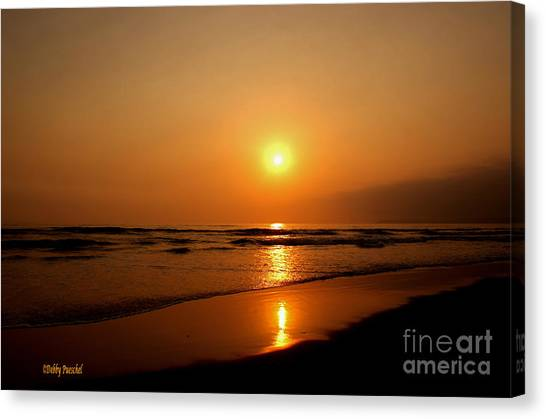 Pacific Sunset Reflection Canvas Print