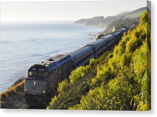 Pacific Surfliner Along The Central Coast Canvas Print
