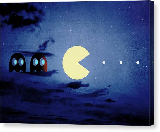 Pacman Canvas Print - Pacman Night-scape by Filippo B
