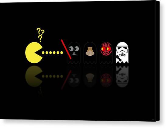 Republican Canvas Print - Pacman Star Wars - 2 by NicoWriter