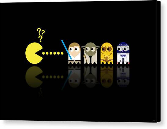Science Fiction Canvas Print - Pacman Star Wars - 3 by NicoWriter