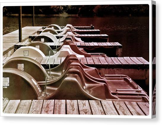 Paddle Boating Canvas Print