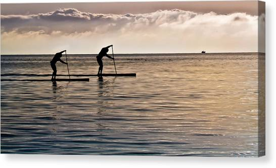 Paddle Surfing Canvas Print