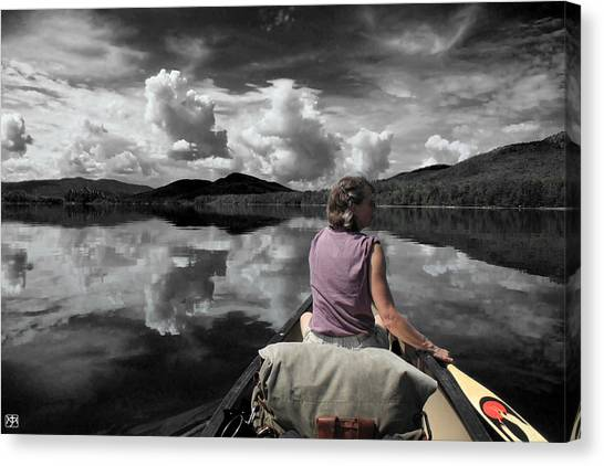 Paddling Attean Pond Canvas Print