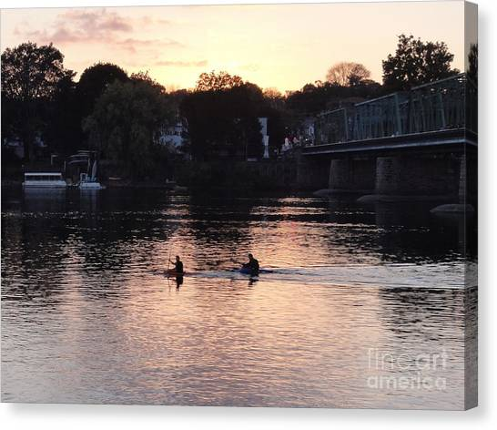 Paddling For Home Canvas Print