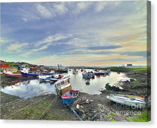 Paddy's Hole South Gare Teesside Canvas Print