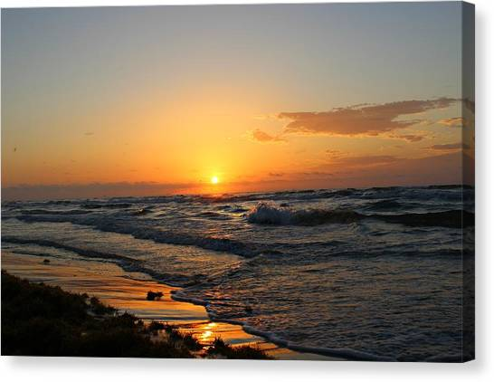 Canvas Print featuring the photograph Padre Sunrise by Candice Trimble