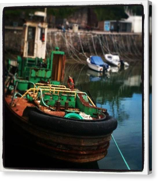 Quirky Canvas Print - #padstow #boat #oldthings #quirky by Bee Adams