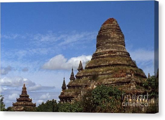 Pagan Burma Stupa Canvas Print by Scott Shaw
