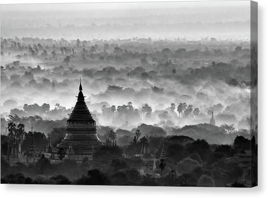 Pagoda Canvas Print by Hans-wolfgang Hawerkamp