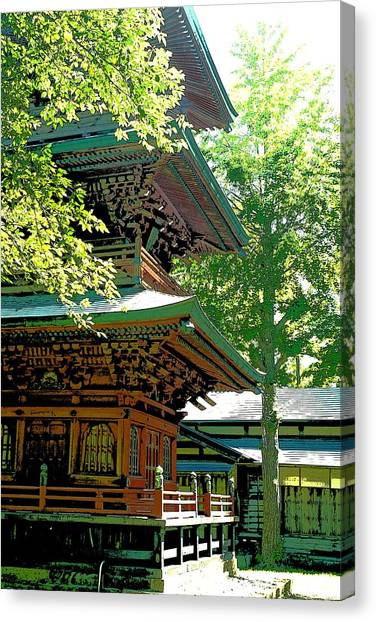 Pagoda Side View Canvas Print