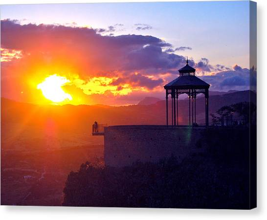 Canvas Print featuring the photograph Pagoda Sunset by HweeYen Ong