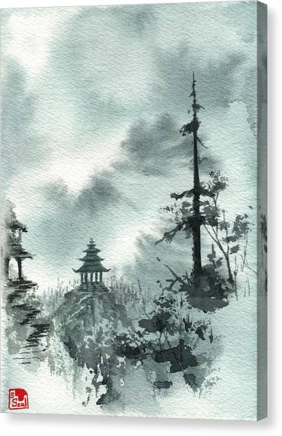 Pagoda Valley Canvas Print