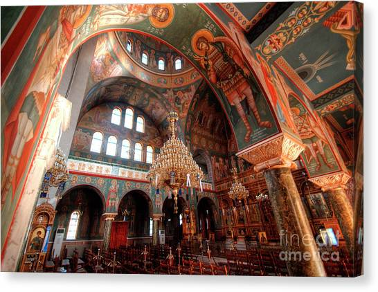 Pagrati Athens Church Interior 4 Canvas Print