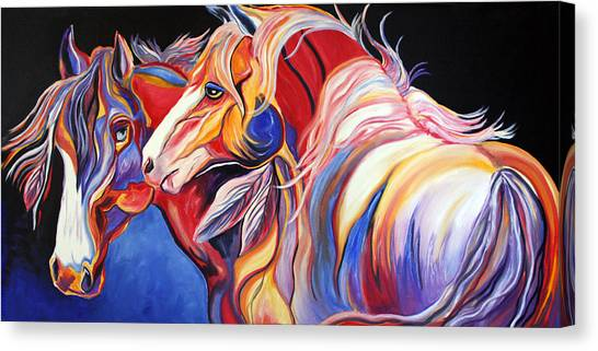 Paint Horse Colorful Spirits Canvas Print