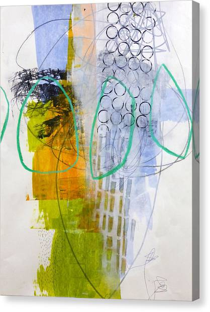 Fat Canvas Print - Paint Improv 7 by Jane Davies