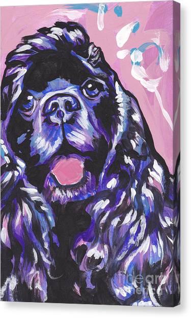 Cocker Spaniels Canvas Print - Paint It Black by Lea S