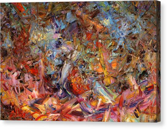 Abstract Expressionism Canvas Print - Paint Number 43a by James W Johnson