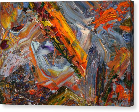 Abstract Expressionist Canvas Print - Paint Number 44 by James W Johnson