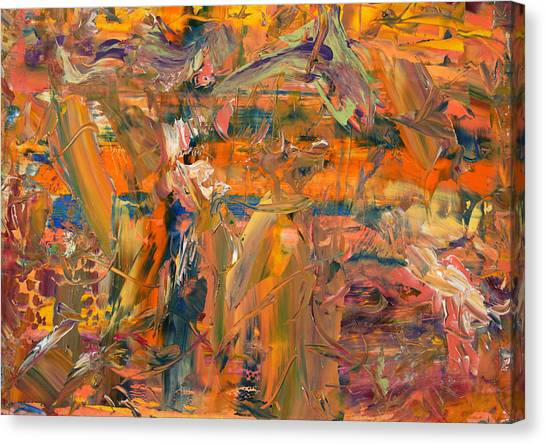Abstract Expressionist Canvas Print - Paint Number 45 by James W Johnson