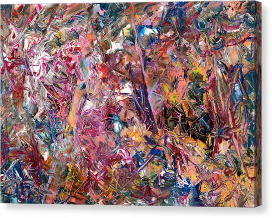 Abstract Expressionism Canvas Print - Paint Number 49 by James W Johnson