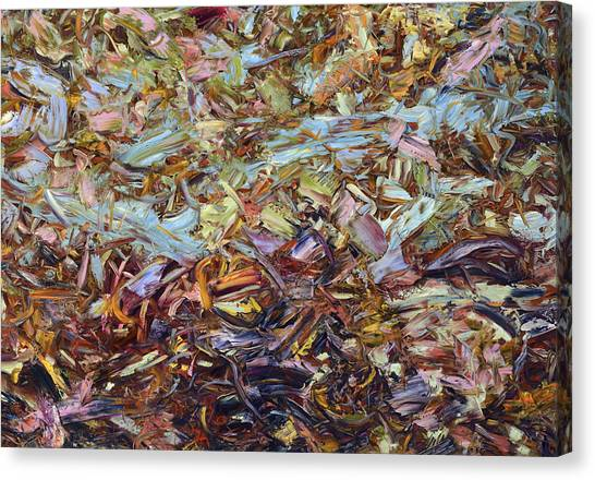 Abstract Expressionism Canvas Print - Paint Number 51 by James W Johnson