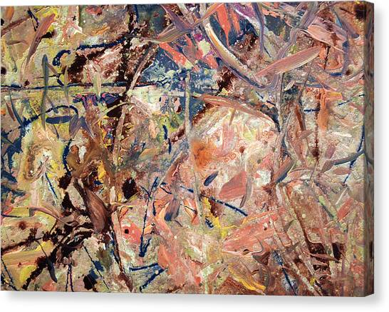 Abstract Expressionism Canvas Print - Paint Number 53 by James W Johnson