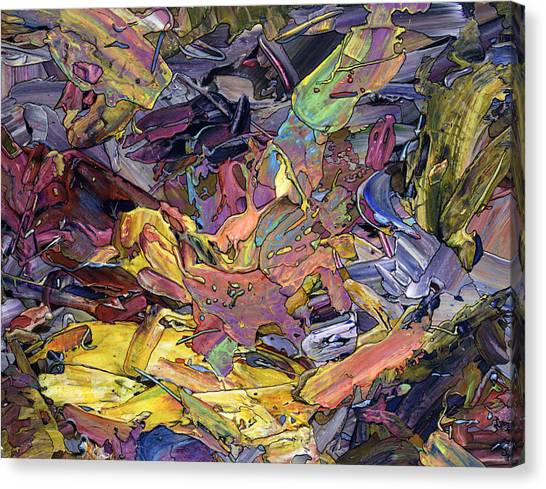 Expressionism Canvas Print - Paint Number 60 by James W Johnson