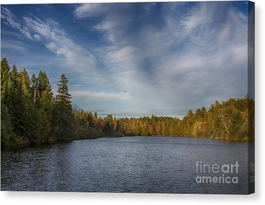 Paint River - Autumn Canvas Print