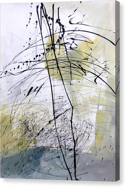 Fat Canvas Print - Paint Solo 5 by Jane Davies