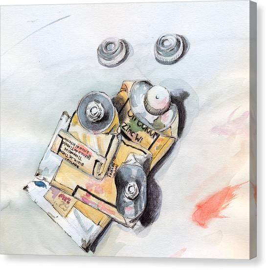 Paint Tubes Canvas Print