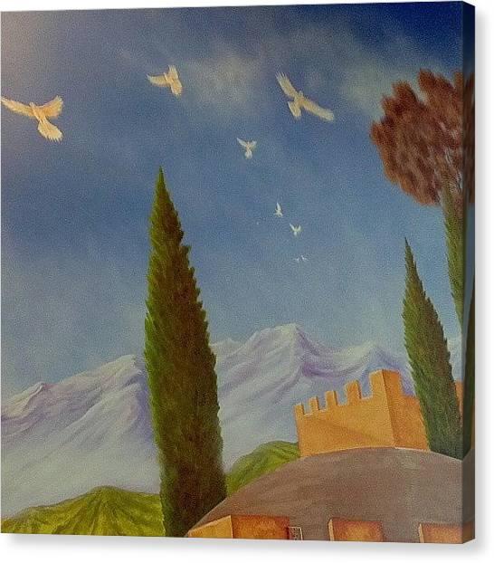 Dove Canvas Print - Paint Your World! by Eagles Quest Studio