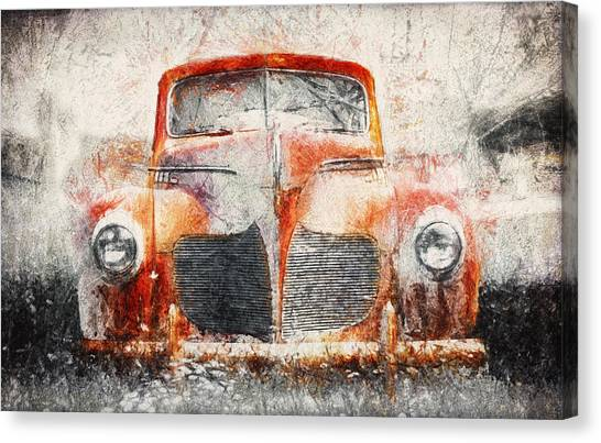 Bases Canvas Print - Painted 1940 Desoto Deluxe by Scott Norris