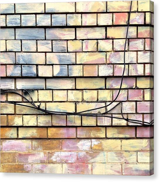 Urban Canvas Print - Painted Brick by Julie Gebhardt