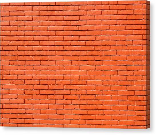 Painted Brick Wall Canvas Print