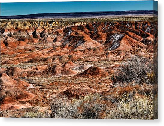 Painted Desert In Winter Canvas Print