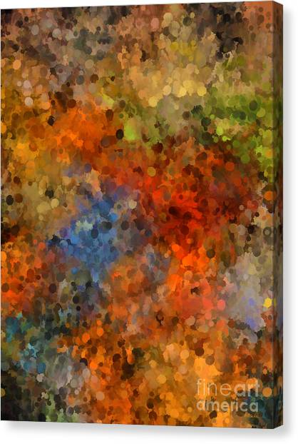 Painted Fall Abstract Canvas Print