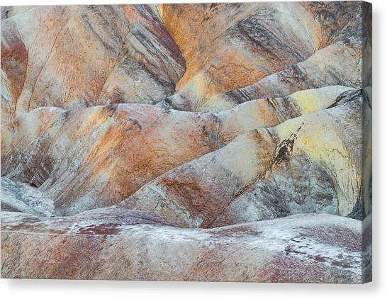 Death Canvas Print - Painted Hills In Death Valley by Larry Marshall