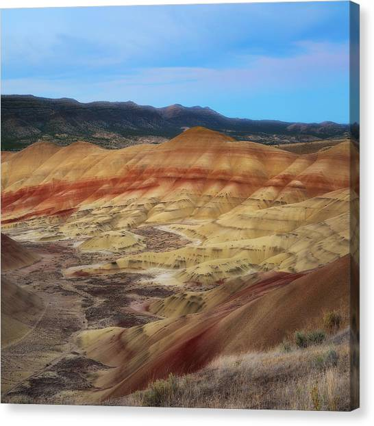 Painted Hills In Square Canvas Print