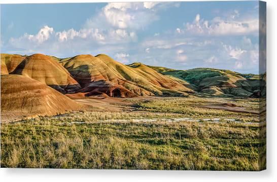 Painted Hills Sunset Canvas Print by Joe Hudspeth