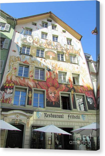 Painted House Fritschi Canvas Print