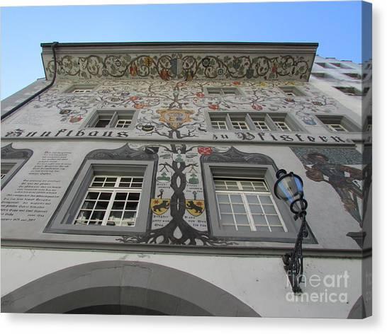 Painted House On The Rathaussteg Canvas Print