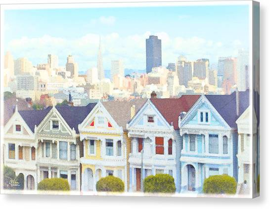 Painted Ladies Alamo Square San Francisco Canvas Print