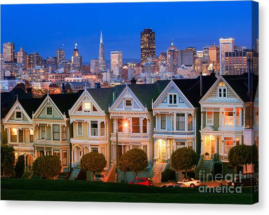 Light Paint Canvas Print - Painted Ladies by Inge Johnsson